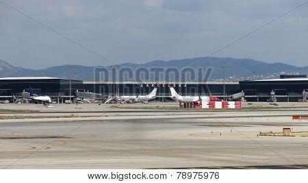 Barcelona International Airport Panorama.