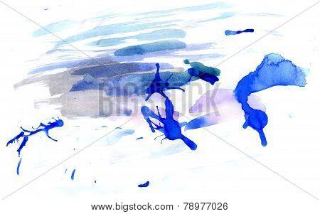 Blue Ink Blot