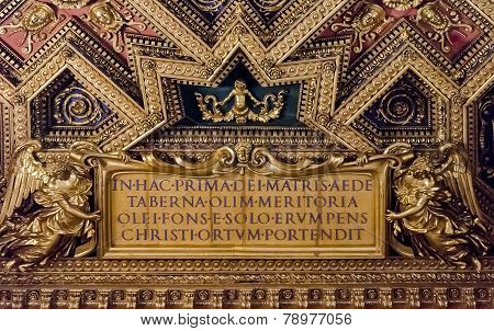 Santa Maria Trastevere Church In Rome, Italy