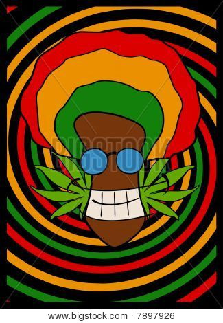 portrait of rasta man