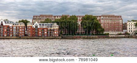 London Riverside Panorama View
