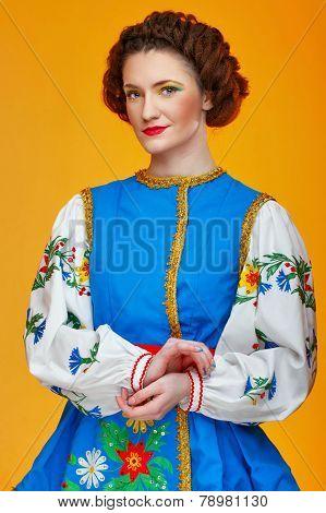Girl In National Dress