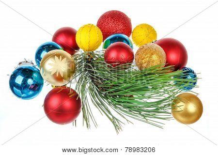 Holiday Decorations Isolated On White Background