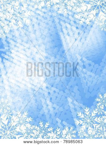 frosty background with copy space