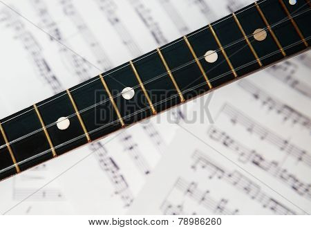 three string balalaika fingerboard