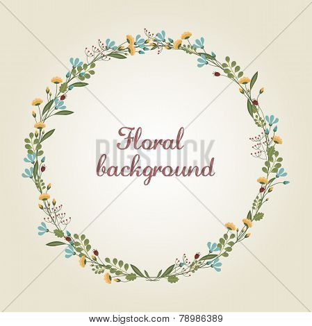 Flower Wreath Illustration
