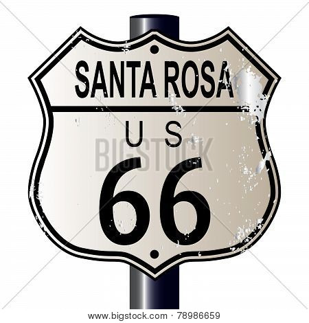Santa Rosa Route 66 Highway Sign