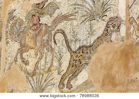 frescoes on the ruins of Carthage