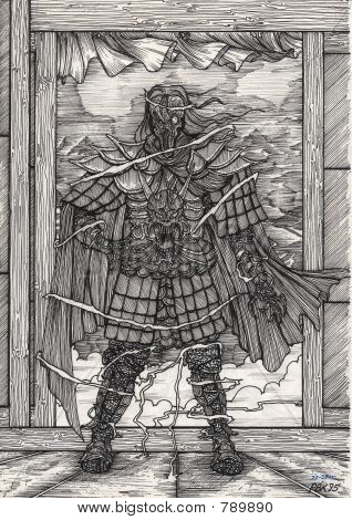 sketches 1995  05 28 undead samurai