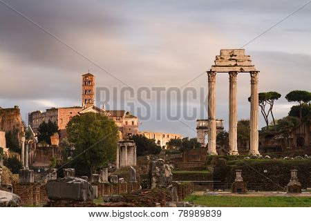View Of The Forum Romanum - Long Exposure Version