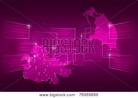 Antigua And Barbuda Map World Map News Communication Pink