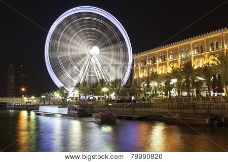 SHARJAH, UNITED ARAB EMIRATES - DECEMBER 19, 2014: Photo of Ferris wheel -
