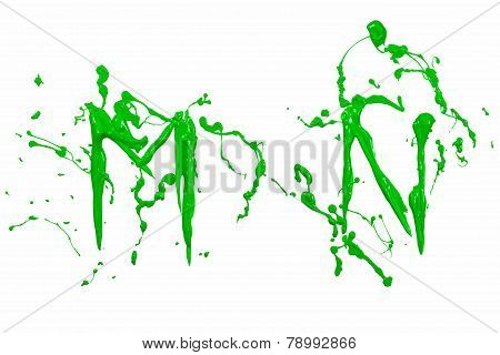 M And N Painted Green