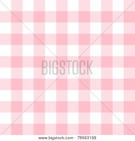 Checkered seamless pattern in feminine light pink and white