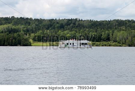 Houseboat In New Brunswick River