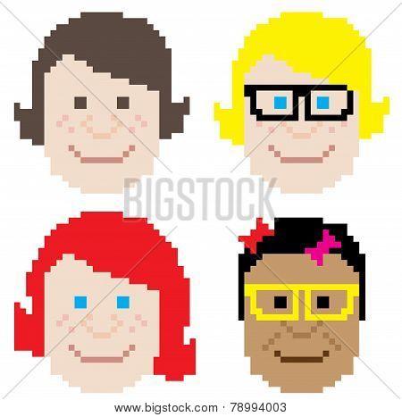 Girl Face Pixel Art