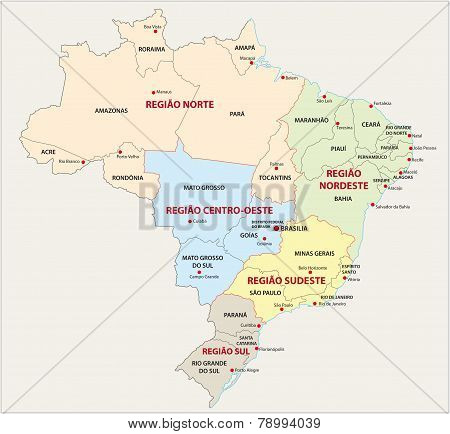 Brazil, Administrative And Territorial Division