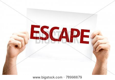 Escape card isolated on white background