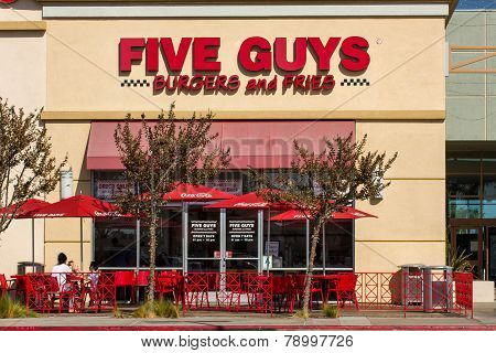 Five Guys Restaurant Exterior