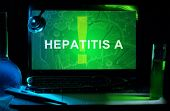 picture of hepatitis  - Notebook with words   hepatitis A - JPG