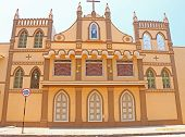 stock photo of tabernacle  - convent and nunnery on a street in ponducherry india - JPG