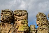 image of bluff  - This rock bluff is located in Central Wisconsin - JPG
