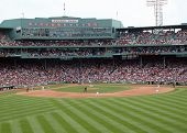 Red Sox Pitcher Tim Wakefield Throws A Pitch At Fenway