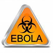 pic of biological hazard  - orange ebola hazard sign on white background - JPG