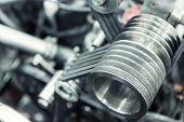 foto of hydrogen  - Part of car engine - JPG