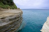 stock photo of sidari  - famous cliff sidari at the island corfu - JPG