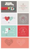 stock photo of valentine card  - Happy Valentine - JPG