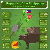 foto of carabao  - Philippines infographics statistical data sights - JPG
