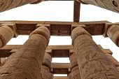 stock photo of cultural artifacts  - Close up of columns covered in hieroglyphics - JPG