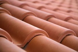 stock photo of red roof  - Close - JPG