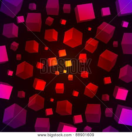 Colorful 3D cubes background.