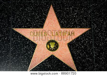 Queen Latifah Star On The Hollywood Walk Of Fame
