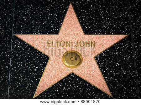 Elton John Star On The Hollywood Walk Of Fame