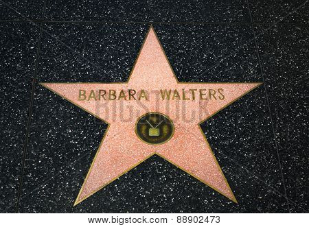 Barbara Walters Star On The Hollywood Walk Of Fame