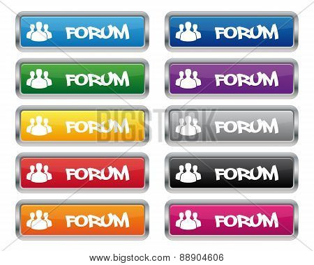 Forum Metallic Rectangular Buttons