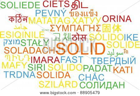 Background concept wordcloud multilanguage international many language illustration of solid