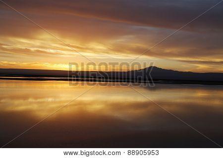 Sunset in Atacama Desert
