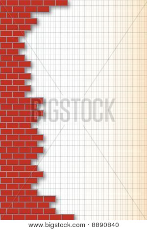 brick-wall background with space for text