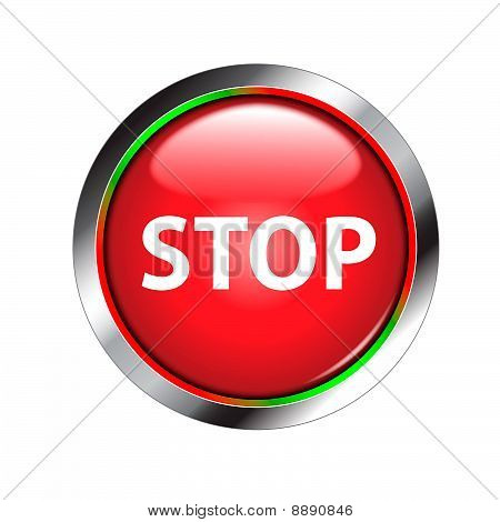 stop shiny red button