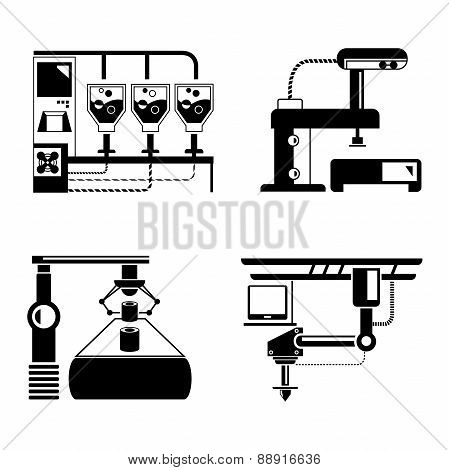 manufacturing concept, production line