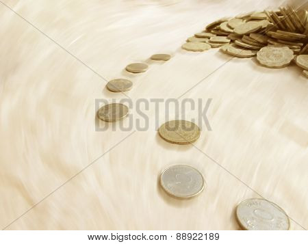 Coins Running With The Time