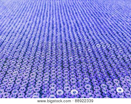 Violet Sequins Embroidered Background