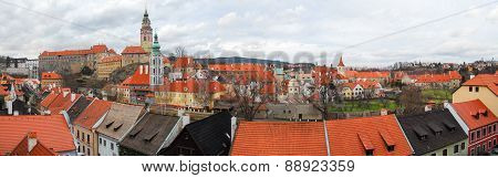 Panorama Over Cesky Krumlov, Czech Republic