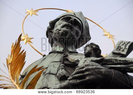 Statue Of John Of Nepomuk - Prague, Czech Republic