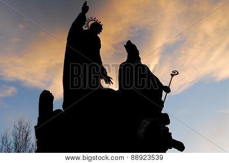 Statue Silhouettes - Prague, Czech Republic