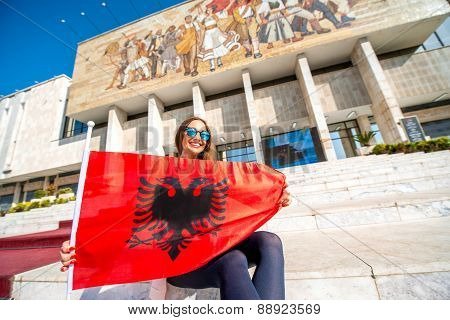 Young Albanian patriot